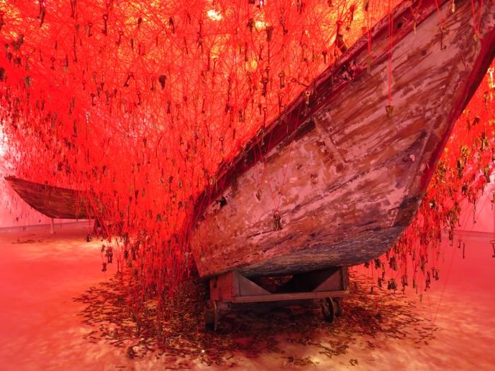 "Chiharu Shiota, ""The Key in Hand"", Japan Pavilion at the Giardini, La Biennale di Venezia, 56th edition, 2015."